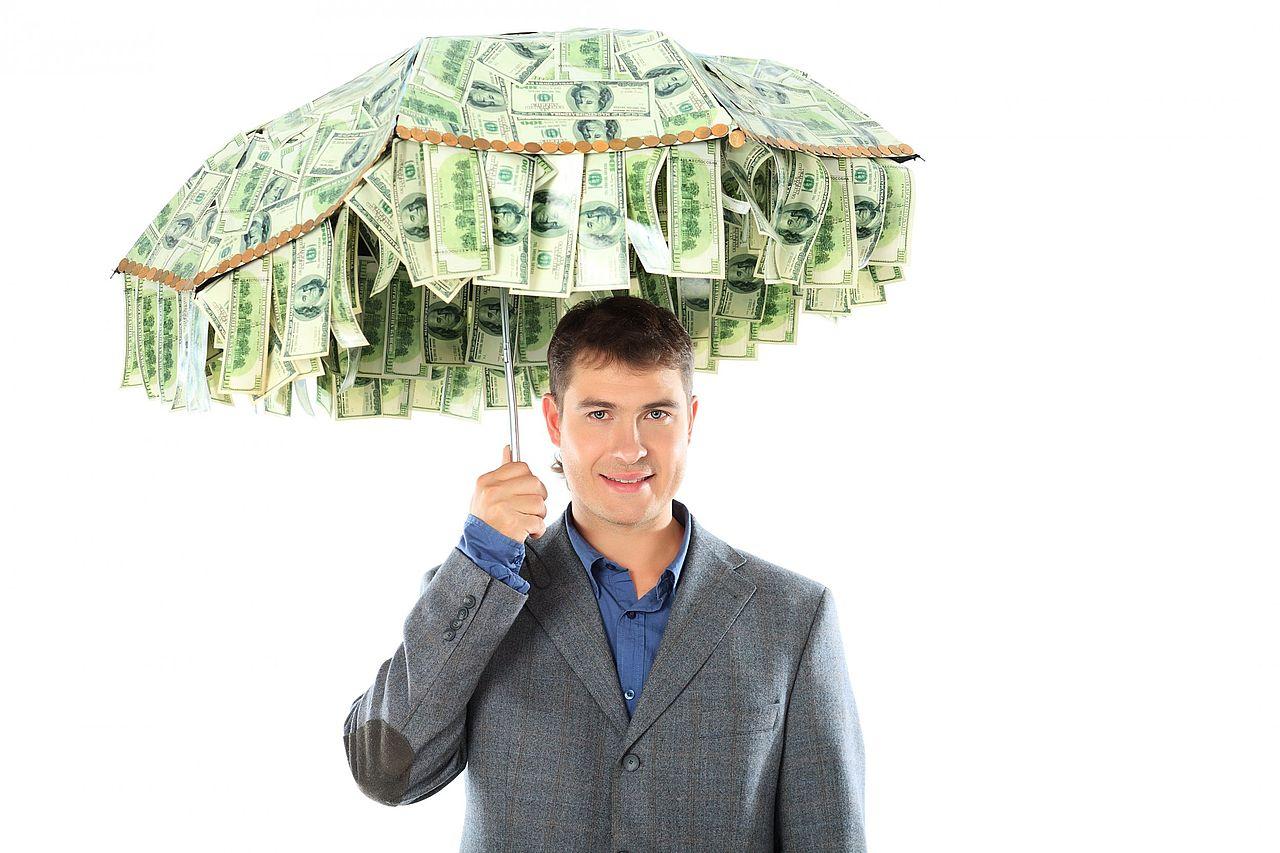 Денежный зонт (DIY) Необычные вещи