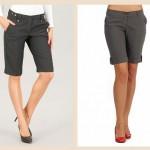 Длинные шорты женские
