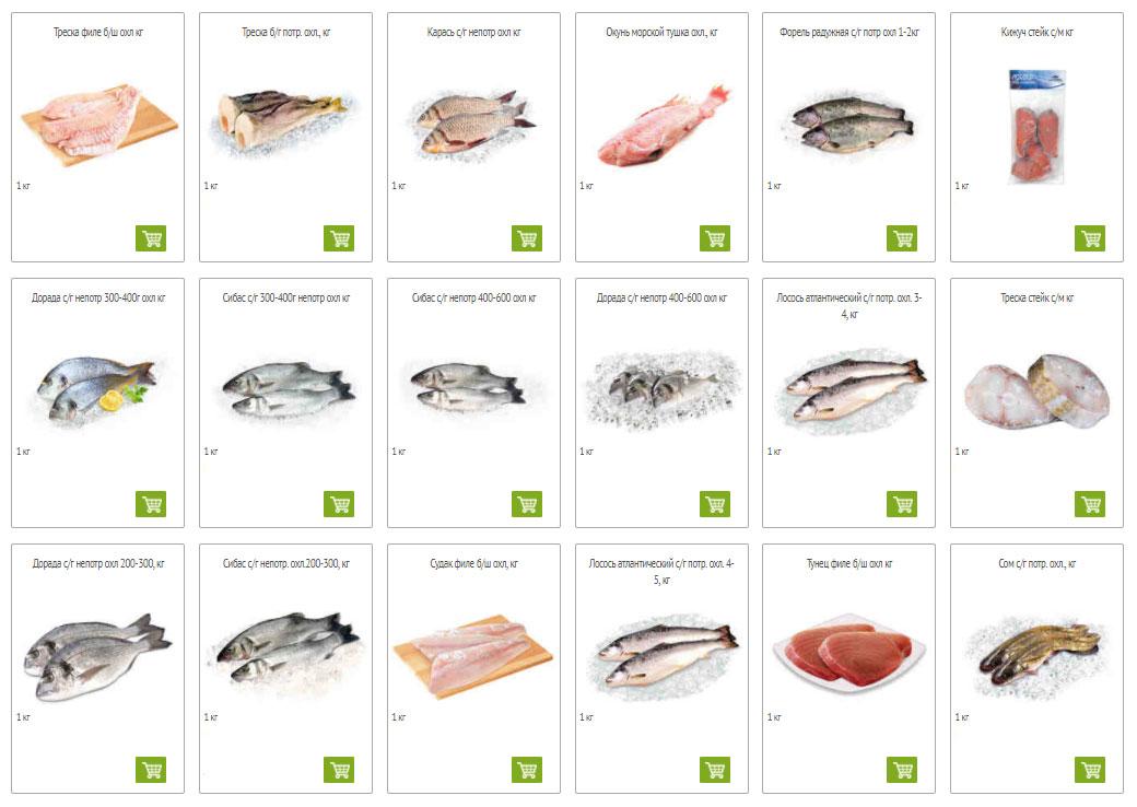 Каталог рыбы в Окей
