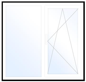 Параметры стандартного пластикового окна