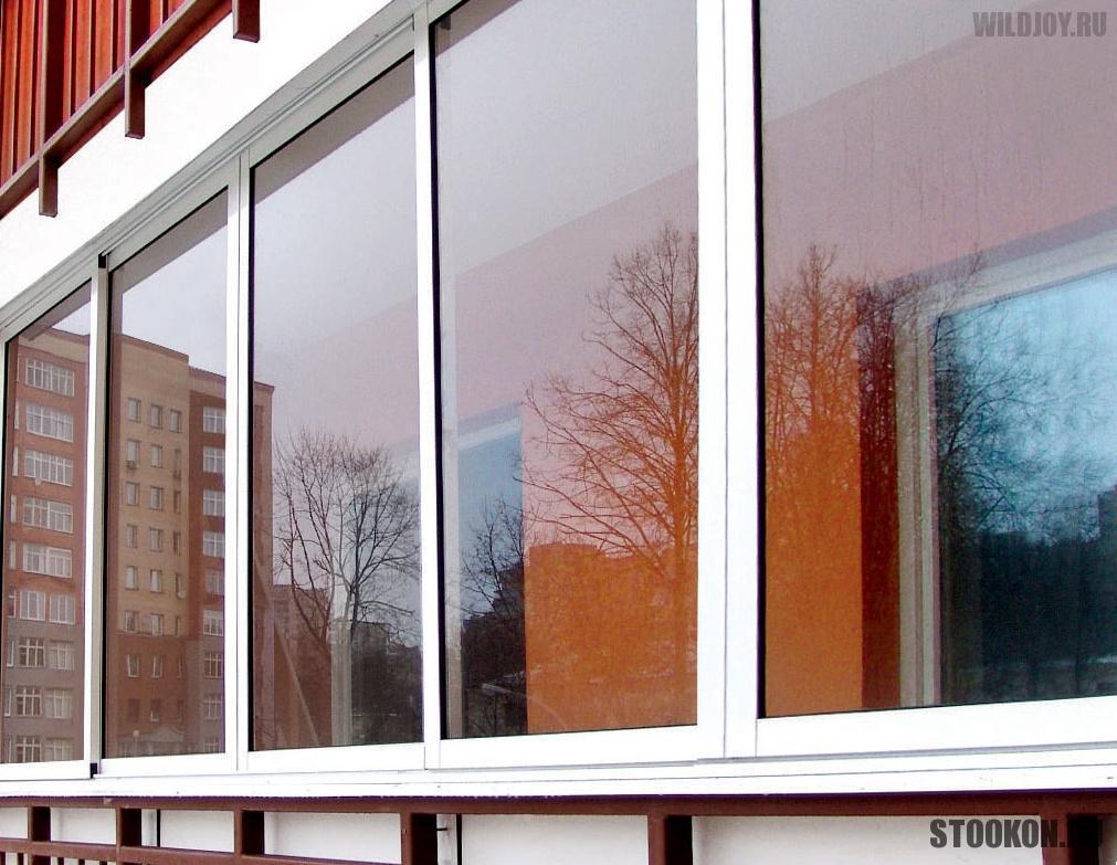 Методы холодного остекления балкона