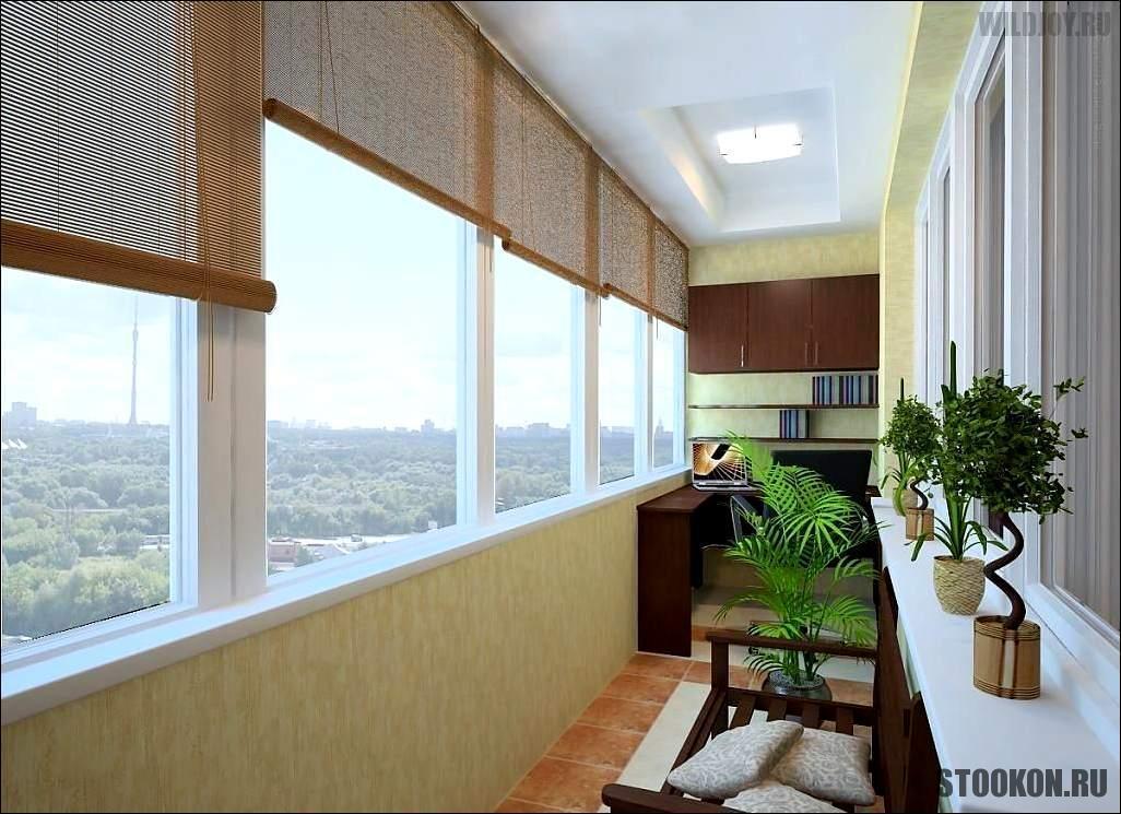 Глубокое утепление и остекление балкона