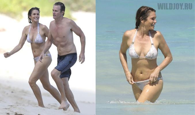 51-летняя модель Синди Кроуфорд в очередной раз показала идеальную фигуру