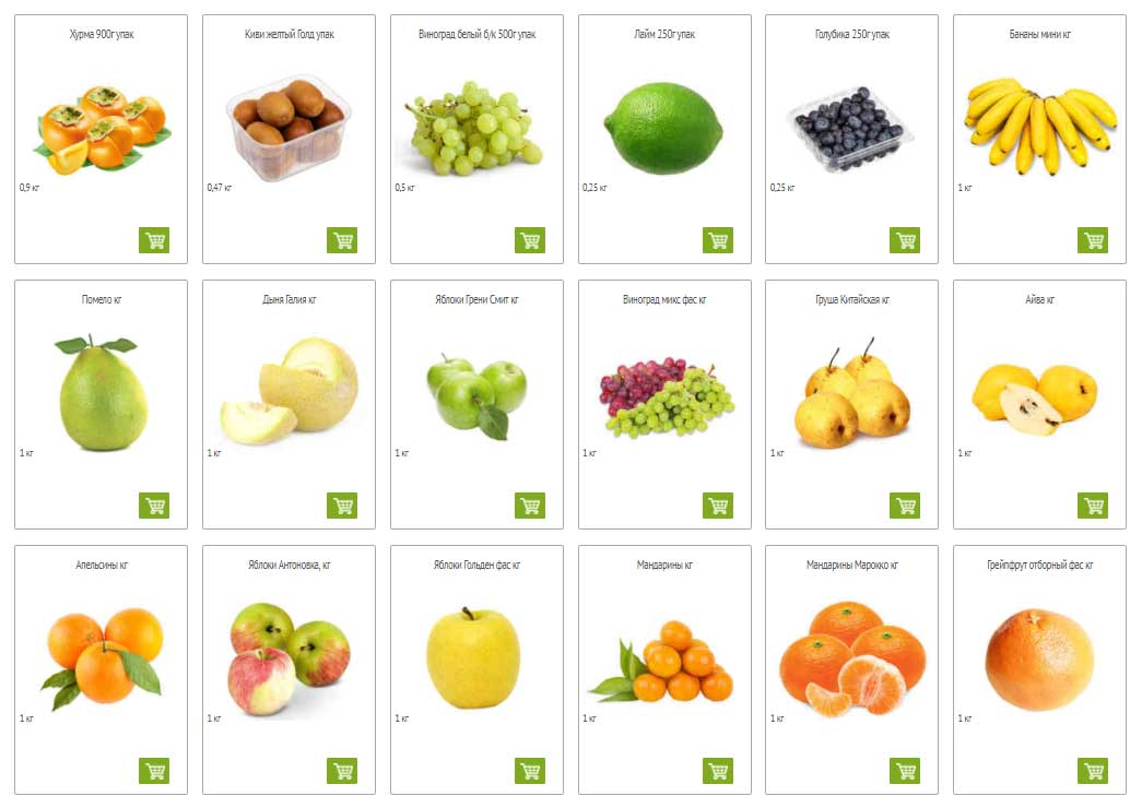 Каталог фруктов в Окей