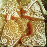 Мыло ручной работы новогоднее перчатка сапог домик елочка